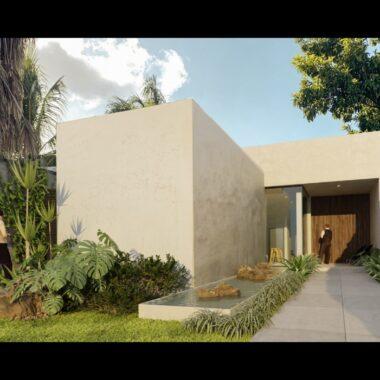 Casa de 1 planta en venta en con piscina Sodzil Norte dentro de periférico. CM