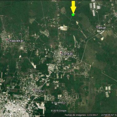 Terreno de 2.3 héctareas en Conkal. (YA)